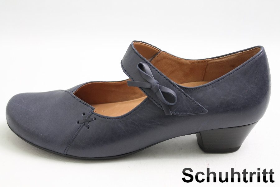 gabor pumps blau leder schuhweite g latex laufsohle ebay. Black Bedroom Furniture Sets. Home Design Ideas