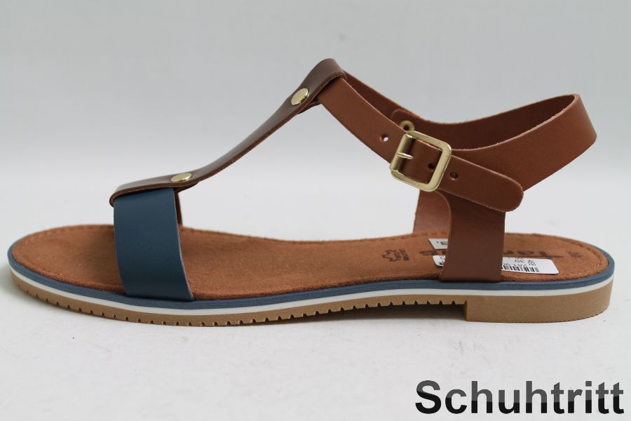 tamaris sandalen braun leder riemchen ebay. Black Bedroom Furniture Sets. Home Design Ideas