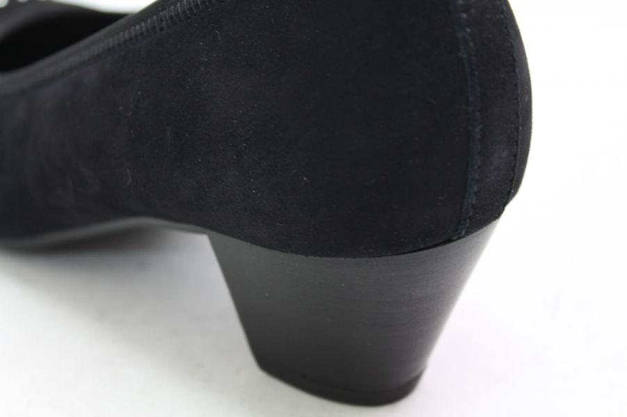 Gabor Pumps schwarz Leder Wechselfußbett Schuhweite G